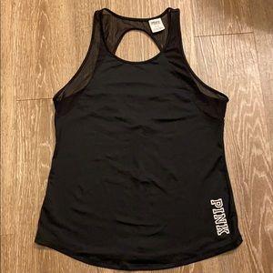 Black workout tank sz medium Pink Victorias Secret